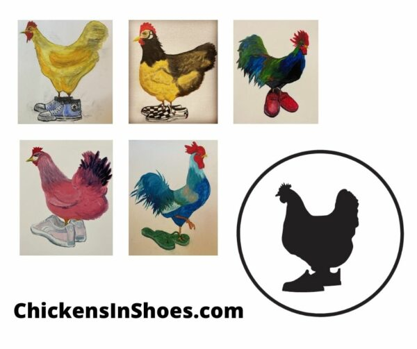 chickens in shoes
